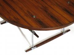 Jens Quistgaard Jens Quistgaard for Nissen Langa Circular Rosewood and Chrome Coffee Table - 1053848