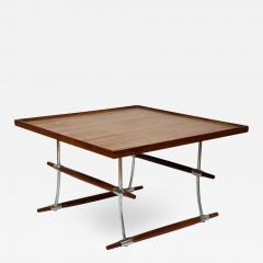 Jens Quistgaard Rosewood and chromed metal coffee table by Jens Quistgaard - 1446465