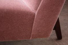 Jens Risom Jens Risom Floating Three Seater Armless Sofa in Walnut and Mohair - 801658