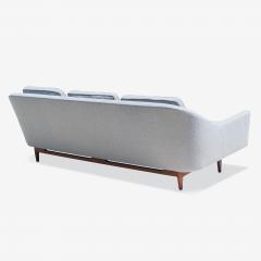 Jens Risom Jens Risom Model 2516 Sofa in Fog Gray Boucl with Walnut Base - 2022259