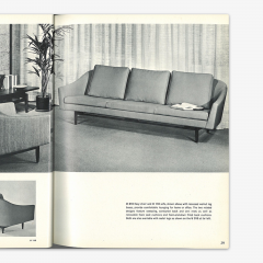 Jens Risom Jens Risom Model 2516 Sofa in Fog Gray Boucl with Walnut Base - 2022264