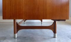 Jens Risom Mid Century Modern Jens Risom Solid Cherry and Chrome Executive Desk - 1028325