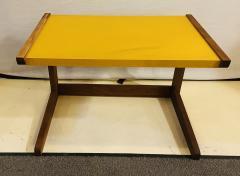 Jens Risom Mid Century Modern Set of Walnut Vinyl Nesting Side Tables By Jens Risom 1960s - 1479603
