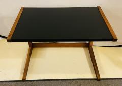 Jens Risom Mid Century Modern Set of Walnut Vinyl Nesting Side Tables By Jens Risom 1960s - 1479607