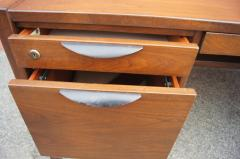 Jens Risom Midcentury Walnut Executive Desk by Jens Risom - 1222825