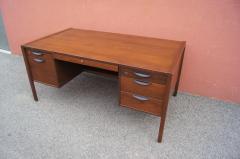 Jens Risom Midcentury Walnut Executive Desk by Jens Risom - 1222826