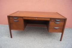Jens Risom Midcentury Walnut Executive Desk by Jens Risom - 1222827