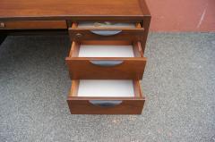 Jens Risom Midcentury Walnut Executive Desk by Jens Risom - 1222828