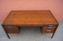 Jens Risom Midcentury Walnut Executive Desk by Jens Risom - 1222830