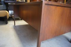 Jens Risom Midcentury Walnut Executive Desk by Jens Risom - 1222831