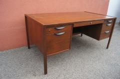 Jens Risom Midcentury Walnut Executive Desk by Jens Risom - 1222832