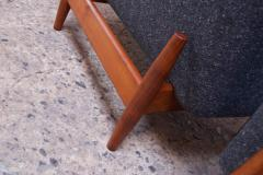 Jens Risom Pair of 1950s Floating Walnut Lounge Chairs by Jens Risom - 1208029