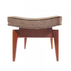 Jens Risom Pair of 1960s Cantilevered Walnut and Mohair Benches by Jens Risom - 482485