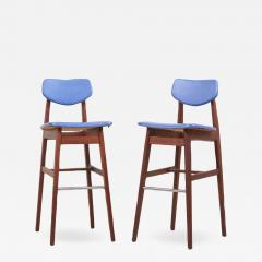 Jens Risom Pair of Bar Stools by Jens Risom US 1960s - 1135771