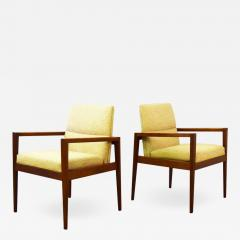 Jens Risom Pair of Mid Century Lounge Armchairs by Jens Risom - 1442360