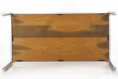 Jens Risom Rare Oak and Aluminum Jens Risom Dining Table circa 1960s - 703234