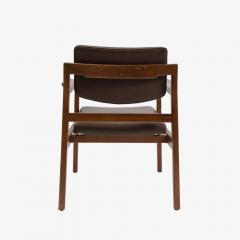 Jens Risom Set of 8 solid walnut and leather Jens Risom dining chairs - 907302