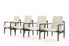 Jens Risom Set of Four Lounge Chairs by Jens Risom c 1960s - 1897648
