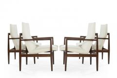 Jens Risom Set of Four Lounge Chairs by Jens Risom c 1960s - 1897649