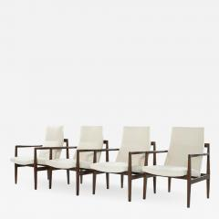 Jens Risom Set of Four Lounge Chairs by Jens Risom c 1960s - 1898892