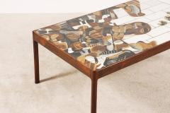 Jeppe Hagedorn Olsen Jeppe Hagedorn Olsen Large Coffee Table with Ceramic Tiles 1960 - 1173342