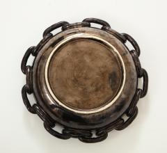 Jerome Massier Jerome Massier Black Ceramic Bowl with Chain Link Detail - 1282006