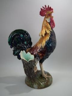 Jerome Massier Large Jerome Massier Majolica Rooster - 1744984