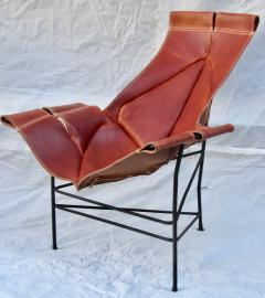 Jerry Johnson Wrought Iron Jerry Johnson Leather Sling Lounge Chair for Leather Crafters 1960 - 774354