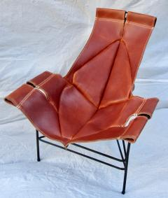 Jerry Johnson Wrought Iron Jerry Johnson Leather Sling Lounge Chair for Leather Crafters 1960 - 774357