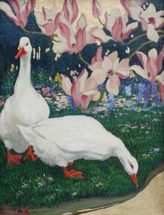Jessie Arms Botke Ducks and Magnolias - 1064923