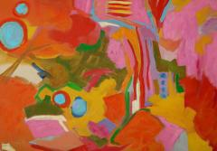 Jessie Mackay COLOURFUL ABSTRACT PAINTING BY JESSIE MACKAY - 2095377