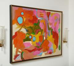 Jessie Mackay COLOURFUL ABSTRACT PAINTING BY JESSIE MACKAY - 2095378