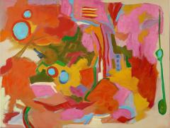 Jessie Mackay COLOURFUL ABSTRACT PAINTING BY JESSIE MACKAY - 2095904