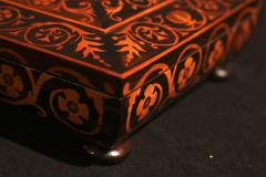 Jewelry Casket Box Rosewood Maple with Floral Inlays Vienna circa 1860 - 1612380
