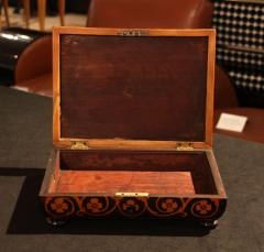 Jewelry Casket Box Rosewood Maple with Floral Inlays Vienna circa 1860 - 1612382