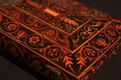 Jewelry Casket Box Rosewood Maple with Floral Inlays Vienna circa 1860 - 1612384