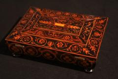 Jewelry Casket Box Rosewood Maple with Floral Inlays Vienna circa 1860 - 1612385