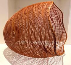 Jin Morigami Contemporary Japanese Bamboo Sculptural Basket Morikami Jin - 1767324
