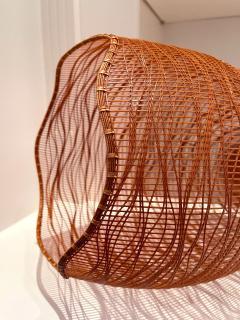 Jin Morigami Contemporary Japanese Bamboo Sculptural Basket Morikami Jin - 1767337