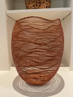 Jin Morigami Contemporary Japanese Bamboo Sculptural Basket Morikami Jin - 1767348