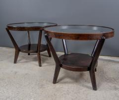 Jindrich Halabala 1930s Jindrich Halabala Bentwood Glass Circular Table Czech - 2168467