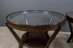 Jindrich Halabala 1930s Jindrich Halabala Bentwood Glass Circular Table Czech - 2168489