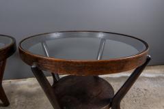 Jindrich Halabala 1930s Jindrich Halabala Bentwood Glass Circular Table Czech - 2168490