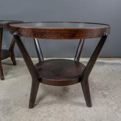 Jindrich Halabala 1930s Jindrich Halabala Bentwood Glass Circular Table Czech - 2168492