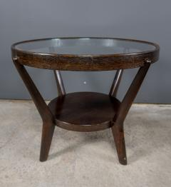 Jindrich Halabala 1930s Jindrich Halabala Bentwood Glass Circular Table Czech - 2168493