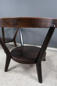 Jindrich Halabala 1930s Jindrich Halabala Bentwood Glass Circular Table Czech - 2169636