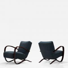 Jindrich Halabala Pair Of Jind ich Halabala Lounge Chairs Czech Republic ca 1930s - 1637633