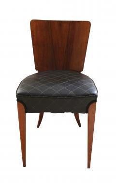 Jindrich Halabala Pair of Halabala Dining Chairs H 214 Walnut Veneer 1930s - 1331715