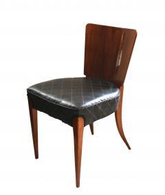 Jindrich Halabala Pair of Halabala Dining Chairs H 214 Walnut Veneer 1930s - 1331716