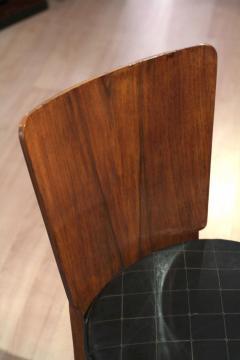 Jindrich Halabala Pair of Halabala Dining Chairs H 214 Walnut Veneer 1930s - 1331717